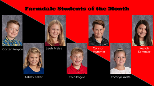 Farmdale Students of the Month
