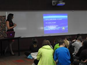 Fifth Graders Receive a Special Weather Lesson