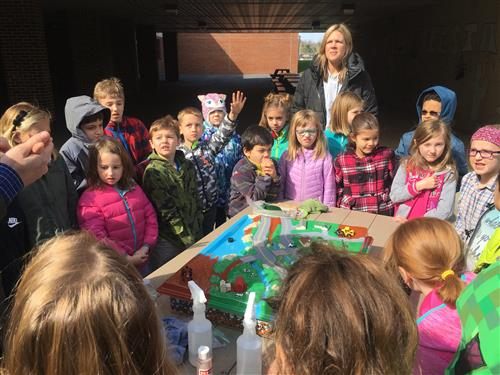 CES students participate in an  interactive demonstration